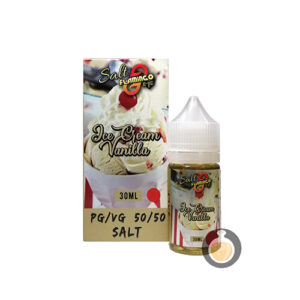 Flamingo E Lic - Ice Cream Vanilla Salt Nic - Vape E Juices & E Liquids