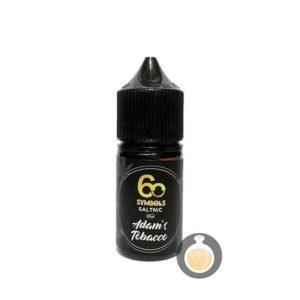60 Symbols - Salt Nic Adam's Tobacco - Vape Juice & E Liquid Online Store